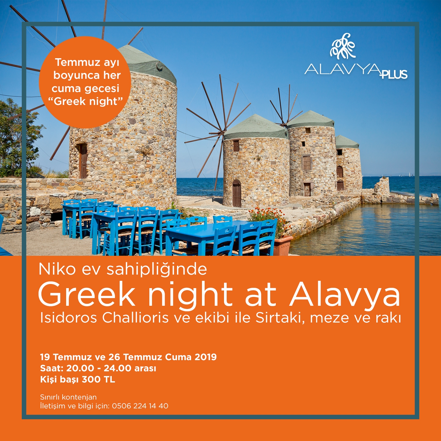 Niko ev sahipliğinde Greek night at Alavya